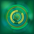 Green circle digital background