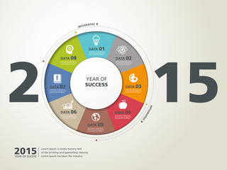 template modern info-graphic design, year of success, business