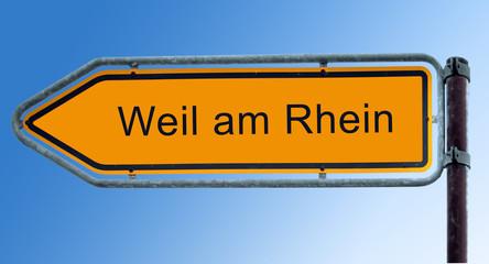 Strassenschild 7 - Weil am Rhein