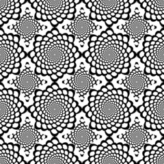 Design seamless monochrome spiral movement snakeskin pattern