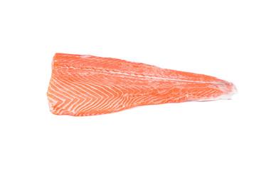 Raw red fish.