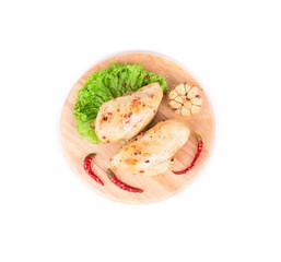 Grilled chicken fillet.