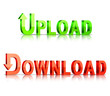 Download and upload icons.