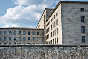 Federal ministry of finance behind the wall of Berlin, Germany