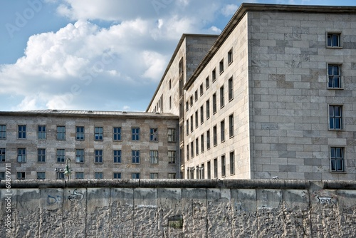canvas print picture Federal ministry of finance behind the wall of Berlin, Germany