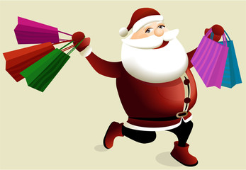 Christmas shopping with Santa Claus