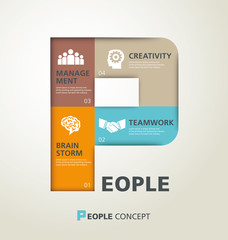 template modern info-graphic design, vector, template, people