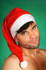 Sexy Santa Claus portrait