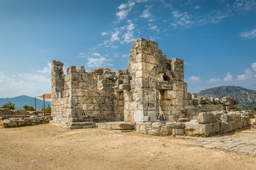 Ancient ruins in Kaunos,
