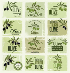 Olive background collection