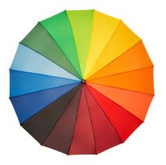 Colorful umbrella isolated on white background