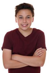 Teenager Junge Portrait mit verschränkten Armen