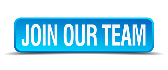join our team blue 3d realistic square isolated button