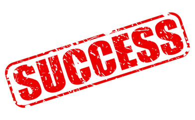 Success red stamp text