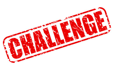 Challenge red stamp text