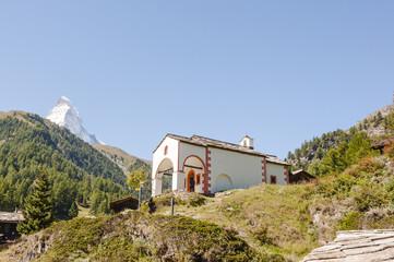 Zermatt, Dorf, Blatten, Kapelle, Sommer, Schweizer Alpen
