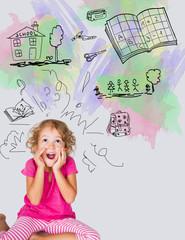 Bambina in prima elementare