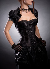 Elegant woman in Victorian style costume