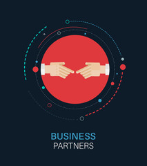 Business partners hand shake vector