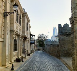Old City, Baku in Azerbaijan