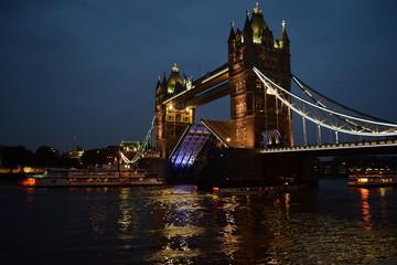 Open Tower Bridge by Night