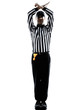 american football referee gestures personal foul silhouette
