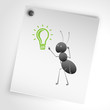 An ant invents a new and bright idea (Pistahio)