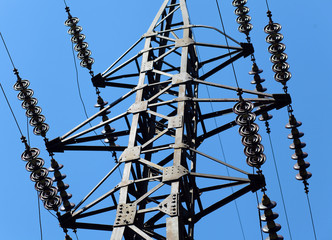 Line of electric transmission, tower