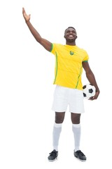 Full length of Brazilian football player