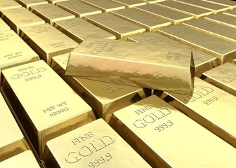 Fine gold bars