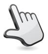 hand pointer icon 3d