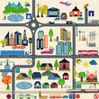 Modern city map elements for generating your own infographics, m - 69887561