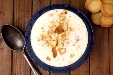 Danish cold buttermilk soup  Koldskal