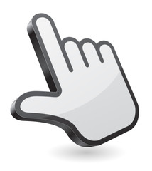 hand pointer icon 3d