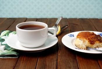 Tea and cake  Brunsviger