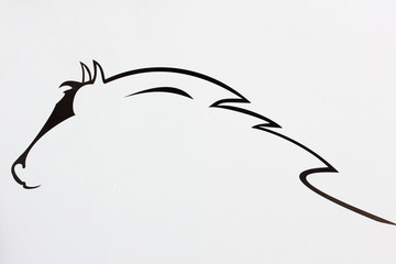 cheval dessiné