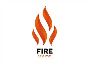 Fire Flame vector logo design vector template