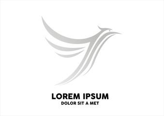 white eagle isolated on white background for mascot logo design