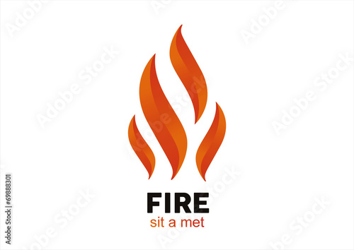 Ogień Płomień wektor logo szablon wektor wzór