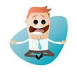 yoga meditation entspannung business mann