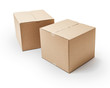 Cardboard boxes -Clipping Path