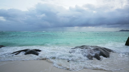Beach And Rocks, Seychelles