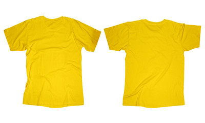 Yellow T-Shirt Template