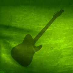Vector Watercolor guitar, easy all editable