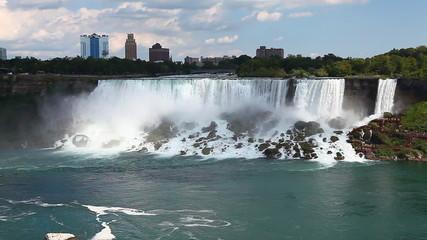 A panoramic view of the American Falls, Niagara Falls