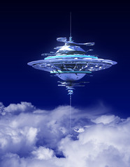 Sky Station Above The Clouds