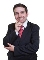 Sympathischer Geschäftsmann im blauen Anzug