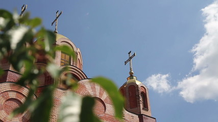 Orthodox Church of the brick exterior outside
