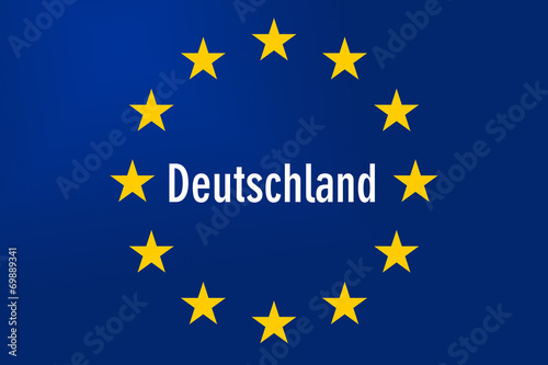 canvas print picture Europe Sign: Germany