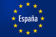 canvas print picture - Europe Sign: Spain